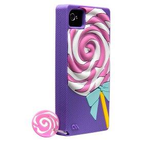 【かわいいペロペロキャンディーのケース】 iPhone 4S/4 Creatures: Lolly Pop Violet