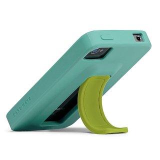 【スタンドが収納可能なケース】 iPhone 4S/4 Snap Case Turquoise/Lime