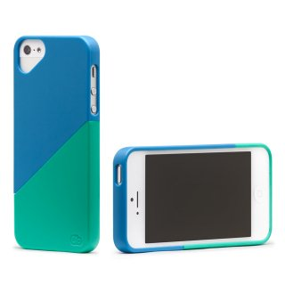 iPhone 4S/4 対応ケース Duet Case, Malibu Blue/Ocean Green