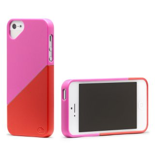 iPhone 4S/4 対応ケース Duet Case, Pink Rose/Red Hibiscus