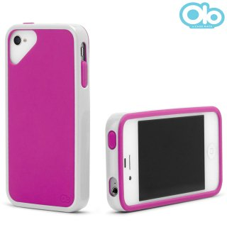 iPhone 4S/4 対応ケース Sling Case, White/Pink Rose