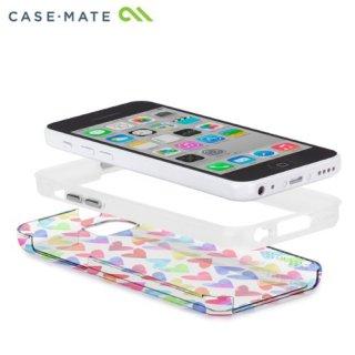 【衝撃に強いケース】 iPhone 5c ハイブリッド タフ ネイキッド プリント ケース ハート