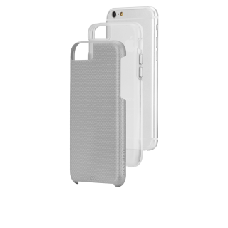 【iPhone6s/6 2層構造でしっかりと保護】 iPhone6s/6 Hybrid Tough Case Silver / Clear