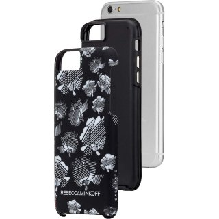【iPhone6s/6 ケース レベッカ・ミンコフ】 iPhone6s/6 Hybrid Tough Print REBECCA MINKOFF B&W Striped Floral