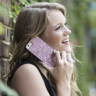 【iPhone6s/6 ケース レベッカ・ミンコフ】 iPhone6s/6 REBECCA MINKOFF Glitter Case Pink Confetti