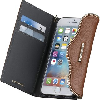 【iPhone6s/6 ケース レベッカ・ミンコフ】 iPhone6s/6 REBECCA MINKOFF Leather Folio Wristlet Almond