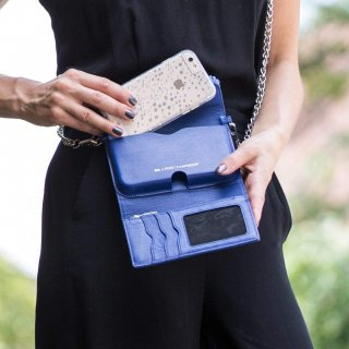 【iPhone6s/6 ケース レベッカ・ミンコフ】 iPhone6s/6 REBECCA MINKOFF Crossbody with Fringe Cobalt