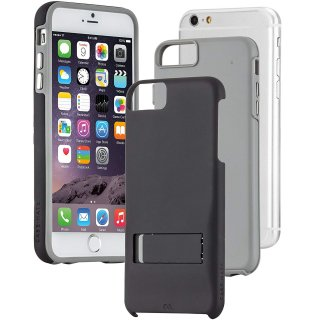 【iPhone6s/6 ケース スタンド付き耐衝撃タイプ】 iPhone6s/6 Hybrid Tough Stand Case Black/Grey
