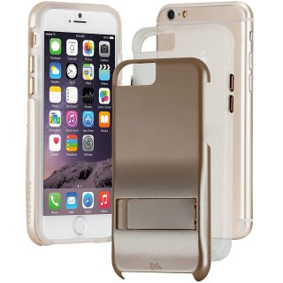 【iPhone6s/6 ケース スタンド付き耐衝撃タイプ】 iPhone6s/6 Hybrid Tough Stand Case Gold/Clear