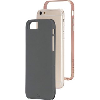 【iPhone6s/6 ケース デュアルレイヤーでスリム】 iPhone6s/6 Slim Tough Case Dark Gray/Rose Gold