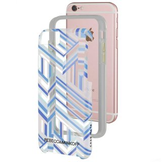 【iPhone6s/6 ケース レベッカ・ミンコフ】 iPhone6s/6 Hybrid Naked Tough Prints REBECCA MINKOFF Pastel Geo Stripe