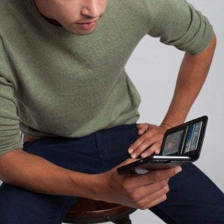【iPhone6s Plus/6 Plus ケース ハンドメイド 本革レザー】 iPhone6s Plus/6 Plus Wallet Folio Case Black