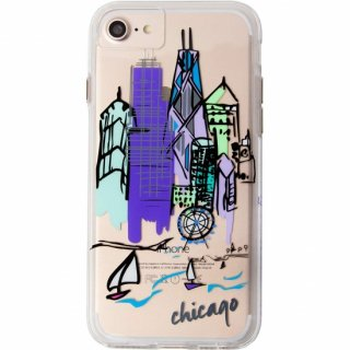 【iPhone8 ケース デザイン・プリント】 iPhone8/7/6s/6  Hybrid Naked Tough City Print Chicago Discover Chicago
