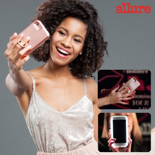 【iPhone8対応 自撮り専用ケース 】iPhone8/7/6s/6 Allure Selfie Case Black
