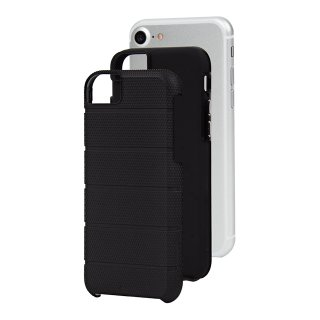 【iPhone8 ケース 2層構造でしっかりと保護】 iPhone8/7/6s/6 Hybrid Tough Mag Case  Black / Black