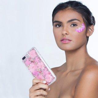 【iPhone8 ドライフラワーを使用!ハッピーでかわいいケース】iPhone8/7/6s/6 Karat Petals - Pink