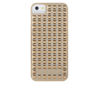 【立体的なデザインのハードケース】 iPhone SE/5s/5 Barely There Case Studded Gold