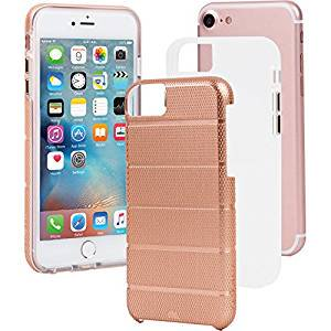 【iPhone8/7 ケース 2層構造でしっかりと保護】 iPhone8/7/6s/6 Hybrid Tough Mag Case Rose Gold / Clear