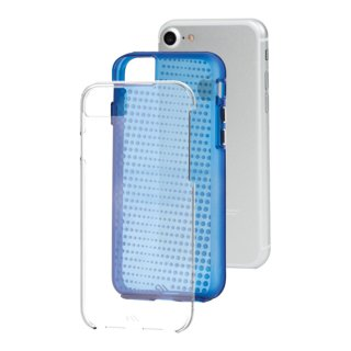 【iPhone8/7 ケース 2層構造のクリアータイプ】 iPhone8/7/6s/6 Hybrid Tough Translucent Case Clear / Blue