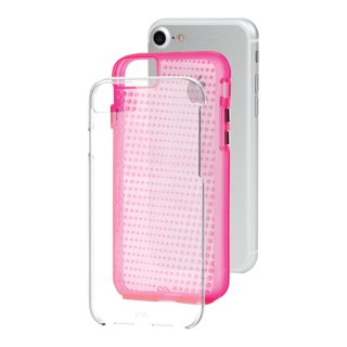 【 2層構造のクリアータイプ】  iPhone SE(第2世代/2020年発売) / 8/7/6s/6 Hybrid Tough Translucent Case Clear / Pink