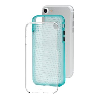【 2層構造のクリアータイプ】  iPhone SE(第2世代/2020年発売) / 8/7/6s/6 Hybrid Tough Translucent Case Clear / Green