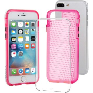 iPhone8 Plus ケース 2層構造で保護 iPhone8 Plus/7 Plus/6s Plus/6 Plus Hybrid Tough Translucent Case Clear/Pink