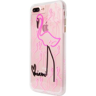 デザインプリント iPhone8 Plus/7 Plus/6s Plus/6 Plus  Hybrid Naked Tough City Print Miami Flamingo