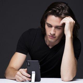【iPhone8 Plus スマホでの動画鑑賞に便利 スタンド内蔵ケース】iPhone8 Plus/7 Plus/6s Plus/6 Plus Tough Stand - Black