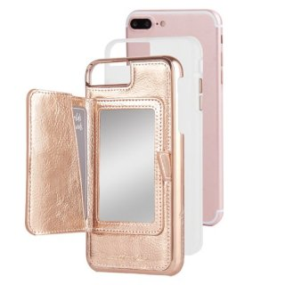 【iPhone8 Plus コンパクトミラー付きのiPhoneケース】iPhone8 Plus/7 Plus/6s Plus/6 Plus Compact Mirror Case