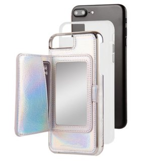 【iPhone8 Plus コンパクトミラー付き iPhoneケース】iPhone8 Plus/7 Plus/6s Plus/6 Plus Compact Mirror Case