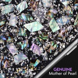 【本物の真珠貝を使用!美しく可愛いケース】iPhoneXR Karat-Pearl
