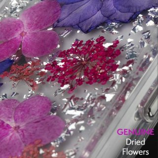 【ドライフラワーを使用!ハッピーでかわいいケース】iPhoneXR Karat Petals-Purple