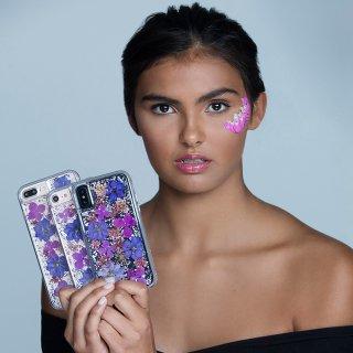 【ドライフラワーを使用!ハッピーでかわいいケース】iPhoneXS/X Karat Petals - Purple