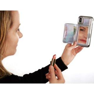 【コンパクトミラー付き 手鏡いらずのiPhoneケース】iPhoneXS/X Compact Mirror Case−Iridescent