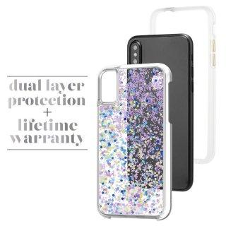 【暗闇で光を放つ幻想的なケース】iPhoneXS/X Case-Mate Waterfall - Glow Purple