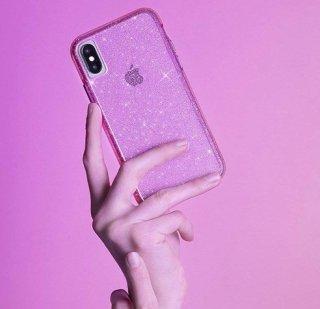 【可愛いきらめきが印象的!】iPhoneXS/X Sheer Crystal - Pink