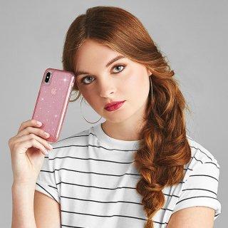 【クリスタルのきらめきが美しい】iPhoneXS/X Sheer Crystal-Blush
