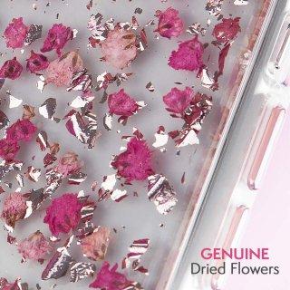【ドライフラワーとシルバーフレークを封じ込めた可愛いケース】iPhoneXS/X Karat Petals-Ditsy Flowers Pink