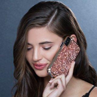 【水晶を使用した高級感あふれるプレミアムなケース】iPhoneXS/X Brilliance-Rose Gold