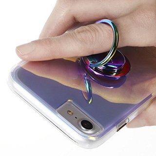 【自撮りにも最適! 指輪のような落下防止リング】Selfie Ring - Iridescent
