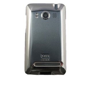 【スリムなハードケース】 au HTC EVO WiMAX ISW11HT Barely There Case Gloss Metallic Silver