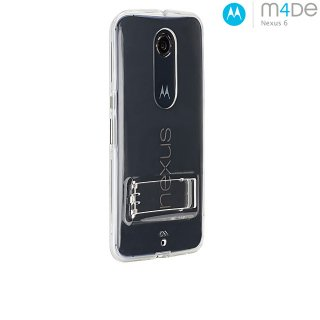 【衝撃に強いケース】 Google Nexus 6 Hybrid Tough Naked Case Clear/Clear スタンド機能付き [M4DE for Motorola]