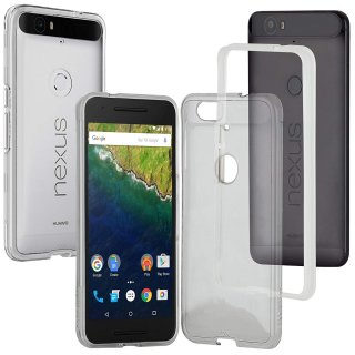 【衝撃に強いケース】 Google Nexus 6P / SoftBank Nexus 6P Hybrid Tough Naked Case Clear/Clear