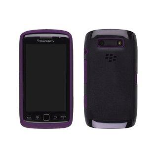 【純正の2種の素材を使ったケース】 BlackBerry Torch 9850/9860 Premium Skin  Black/Royal Purple