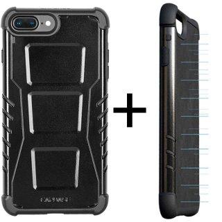 【CAPDASE iPhone7 Plus ケース アーマースーツ】CAPDASE Armor Suit - Combo Rider Jacket + Newton Cover Jet Black