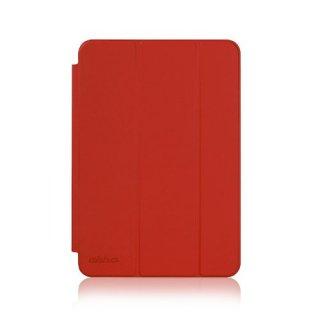 【スタンド機能付きのシンプルなケース】 ahha iPad mini 3/2/1 ローナイ  チリ・レッド
