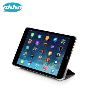 【スタンド機能付きの軽量なスリムケース】 ahha iPad mini 3/2/1 トーレ  ブラック/ホワイト