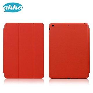 【スタンド機能付きのシンプルなデザインのケース】 ahha iPad Air 用 ローナイ  チリ・レッド