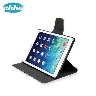 【スタンド機能付きケース】 ahha iPad Air 用 横開き型スリムタイプケース ザキ  ブラック/ブラック