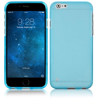 【iPhone6s/6 ケース やわらかく ハリのある 半透明 TPU素材製】 ahha iPhone6s/6 Gummi Shell Case MOYA  Clear Blue